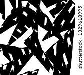 brush grunge pattern. white and ... | Shutterstock .eps vector #1329618995
