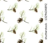 forest seamless pattern with... | Shutterstock . vector #1329634892