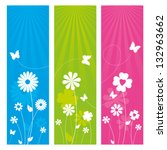 Stock vector floral banner design 132963662
