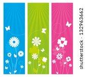 floral banner design | Shutterstock .eps vector #132963662