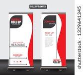 roll up business brochure flyer ... | Shutterstock .eps vector #1329641345