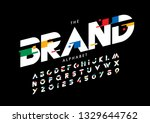 vector of stylized modern font... | Shutterstock .eps vector #1329644762