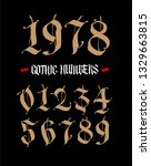 the numbers are in the gothic... | Shutterstock . vector #1329663815