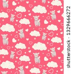 seamless pattern with cute... | Shutterstock .eps vector #1329666272