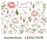 flower beautiful watercolor... | Shutterstock . vector #1329672878