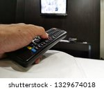remote  control  on  the  ... | Shutterstock . vector #1329674018