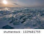 baikal is a lake of tectonic... | Shutterstock . vector #1329681755