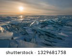 baikal is a lake of tectonic... | Shutterstock . vector #1329681758