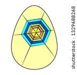 bright colored easter egg... | Shutterstock .eps vector #1329688268