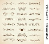 vector set of calligraphic... | Shutterstock .eps vector #132969266