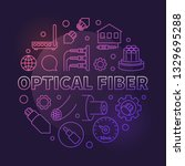 optical fiber vector round... | Shutterstock .eps vector #1329695288
