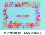 hello inscription made of...   Shutterstock . vector #1329708218