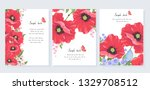 collection of postcards with... | Shutterstock .eps vector #1329708512