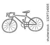 vector of bicycle | Shutterstock .eps vector #1329714005