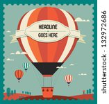 Vintage Hot Air Balloon In The...