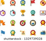 color flat icon set   winner's... | Shutterstock .eps vector #1329739028