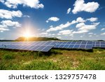 solar panel  photovoltaic ... | Shutterstock . vector #1329757478