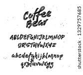 cool script font. brush painted ...   Shutterstock .eps vector #1329757685