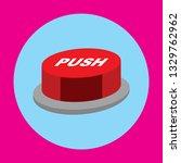 push button icon  flat design...