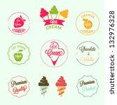 ice cream labels set | Shutterstock .eps vector #132976328