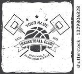 basketball club badge. vector... | Shutterstock .eps vector #1329806828