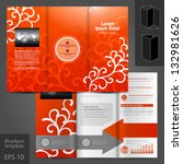 vector red brochure template... | Shutterstock .eps vector #132981626