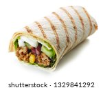 tortilla wrap with fried minced ... | Shutterstock . vector #1329841292