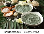 composition with cosmetic clay... | Shutterstock . vector #132984965
