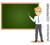 male teacher in classroom...   Shutterstock . vector #1329859688