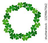 saint patrick's day frame with... | Shutterstock . vector #1329867062