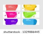 modern abstract vector banner... | Shutterstock .eps vector #1329886445