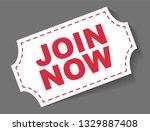 red vector banner join now | Shutterstock .eps vector #1329887408