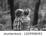 childhood kiss  love and trust. ... | Shutterstock . vector #1329908492