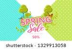 spring sale background banner...   Shutterstock .eps vector #1329913058