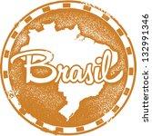 vintage style brazil south... | Shutterstock .eps vector #132991346