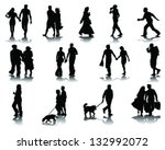 silhouettes and shadow of... | Shutterstock .eps vector #132992072