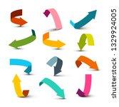 arrow symbol. left  right  up...   Shutterstock .eps vector #1329924005