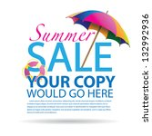 summer promotional design... | Shutterstock .eps vector #132992936