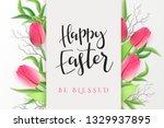 vector illustration of easter... | Shutterstock .eps vector #1329937895