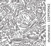 food vector background. cooking ... | Shutterstock .eps vector #1329939062