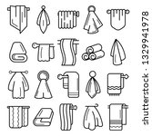 towel icon set. outline set of... | Shutterstock . vector #1329941978