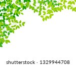 green leaf background | Shutterstock .eps vector #1329944708