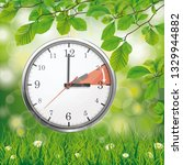 a clock for a time change to a... | Shutterstock .eps vector #1329944882