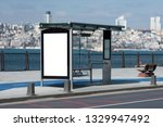 blank bus racket outdoor at...   Shutterstock . vector #1329947492