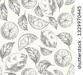 lemons hand drawn vector sketch ... | Shutterstock .eps vector #1329970445