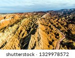 top view of rainbow mountains... | Shutterstock . vector #1329978572