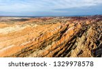 top view of rainbow mountains... | Shutterstock . vector #1329978578