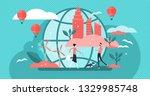 urban ecology vector... | Shutterstock .eps vector #1329985748