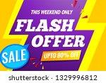 flash sale banner template...   Shutterstock .eps vector #1329996812