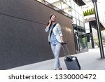 young woman on business trip... | Shutterstock . vector #1330000472